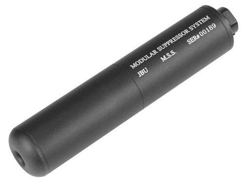 """TSD JBU Fake Airsoft Suppressor, 6.75"""", Aluminum, Incl. Barrel Extension"""