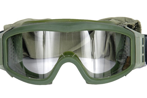 Lancer Tactical Airsoft Safety Goggles, Basic, OD Green Frame, Clear Lens