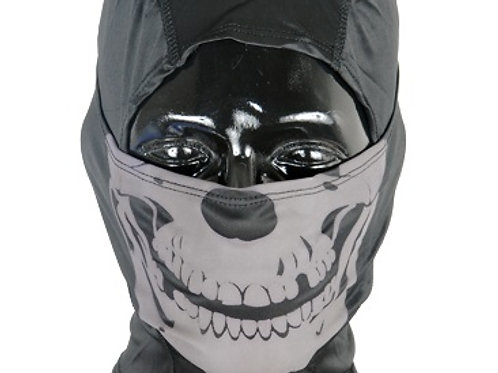 Lancer Tactical Ghost Balaclava, Black w/ Glow in the Dark Skull Design
