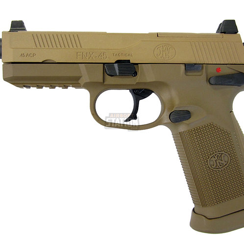 FN Herstal FNX-45 Tactical Metal Gas Blowback Airsoft Pistol, Tan
