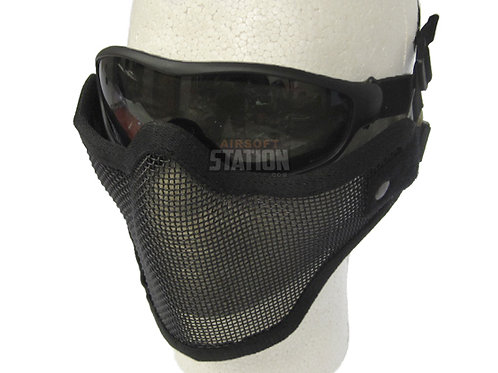 Half Face Mask & Goggles Combo