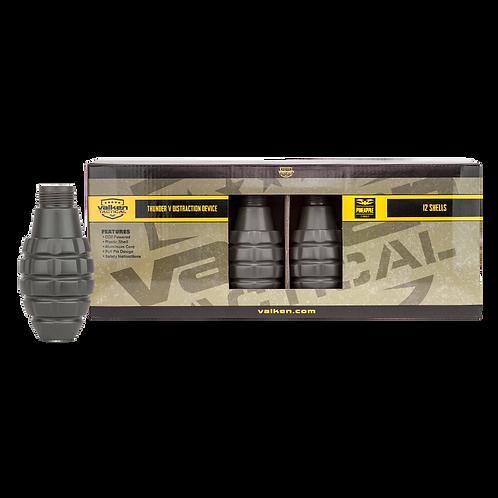 Valken Thunder V Grenade Shells, 12 Pack, Pineapple Style
