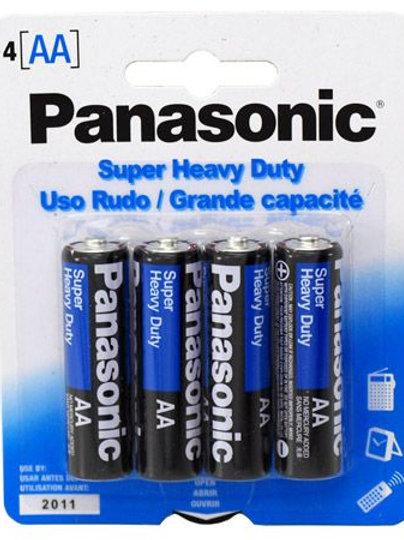 Panasonic Super Heavy Duty AA Batteries, 4 Pack
