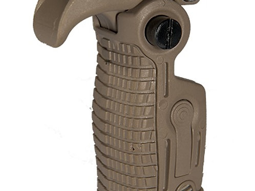 AB163 AK-Style Foldable & Extendable Tactical Foregrip, Dark Earth