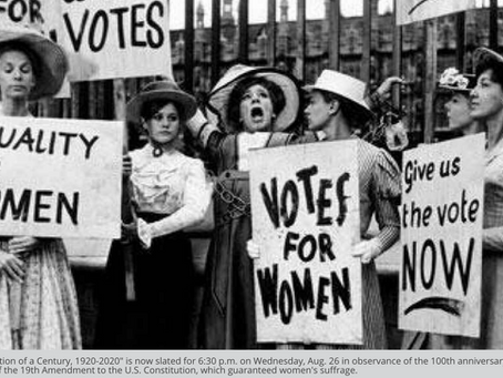 Anniversary celebration of women's suffrage is on again