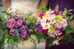Bride and MOH Bouquets