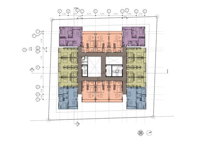 4th-6th Floor Plan