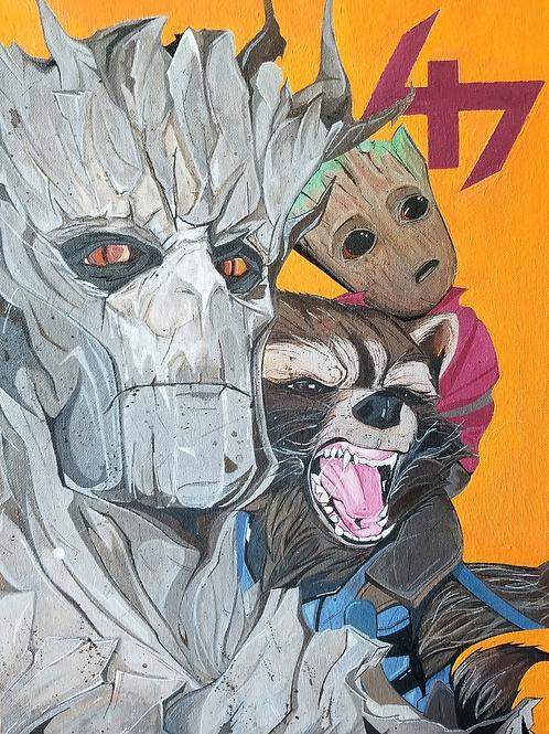 Groot X Rocket X Baby Groot 47