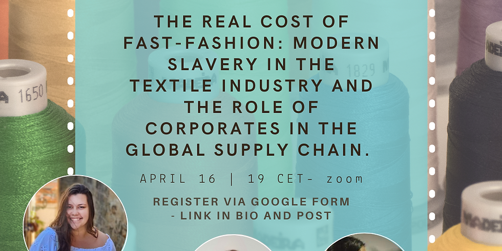 Online Webinar - The real cost of fast-fashion