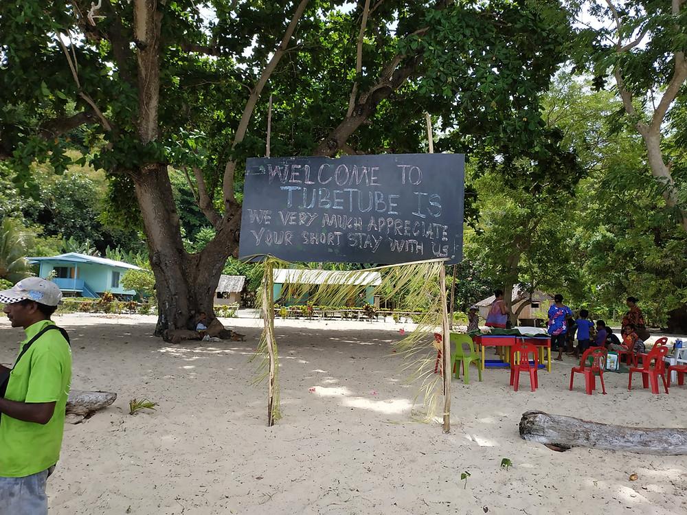 A welcome gathering on Kwaraiwa Island