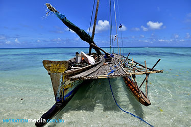 A traditional Sailing Canoe used by fishermen at the Conflict Islands, Papua New Guinea
