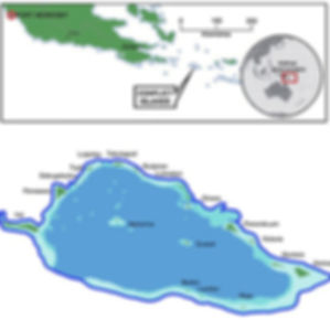 Map of the Conflict Islands and their location in the Milne Bay Province