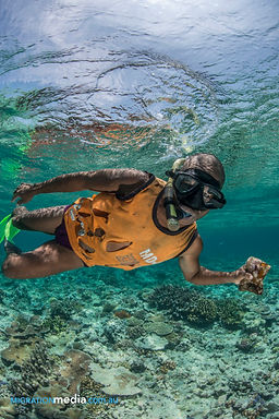 Snorkelling at the Conflict Islands