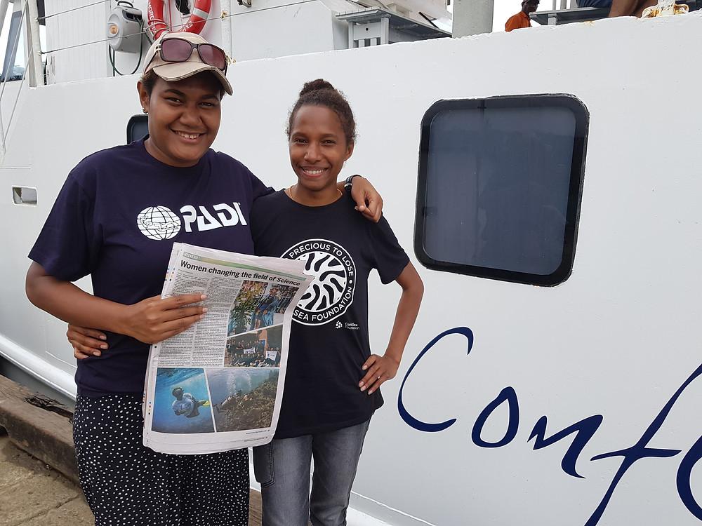 Martha and Naomi of Coral Sea Foundation