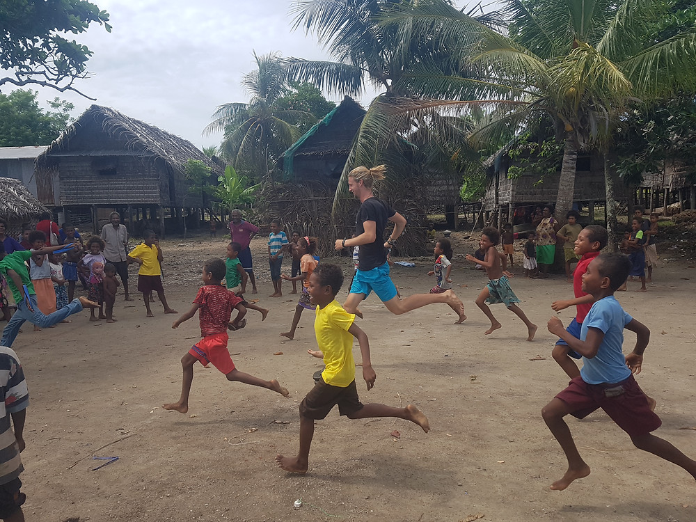 A game of soccer with the village children is always fun