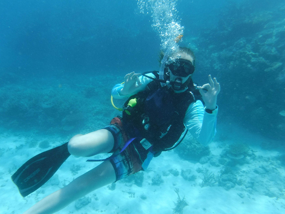 Getting comfortable underwater