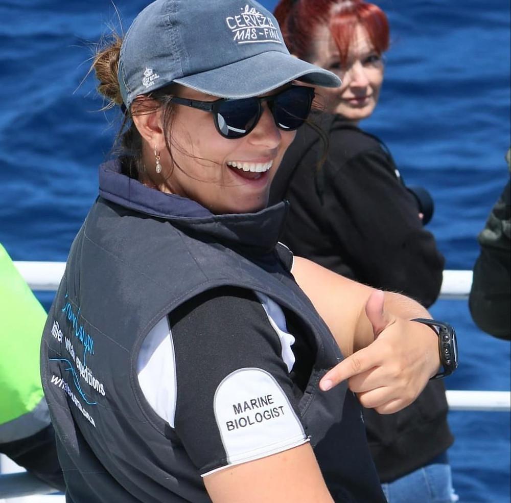 Pia Markorvic was a volunteer in the shark/ray program