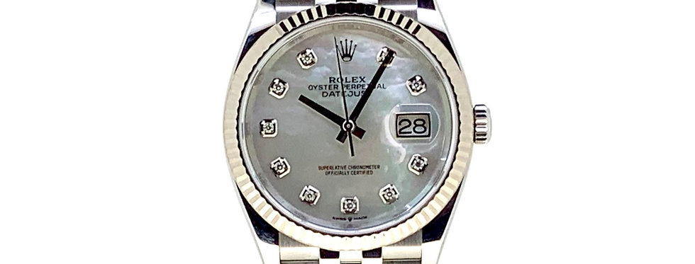 ROLEX DATEJUST MOTHER OF PEARL DIAMONDS - 126234 - 11.500€