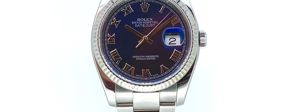 ROLEX DATEJUST BLUE ROMAN - 116234 - 7.800€