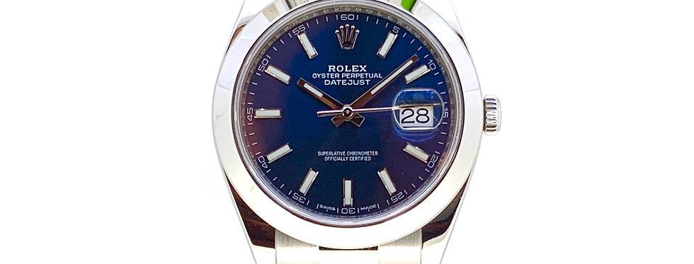 ROLEX DATEJUST 41 BLUE DIAL - 126300 - 8.800€