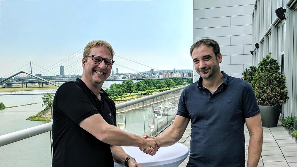 Dr. Volker Meise (Managing Director of Linkfluence Germany GmbH), Jens Schmitz (Managing Director of pressrelations GmbH)