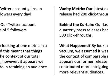 Behind the Curtain of Vanity Metrics