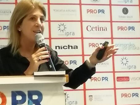 FIBEP's President Laura Garcia at the PRO PR Confernce in Croatia
