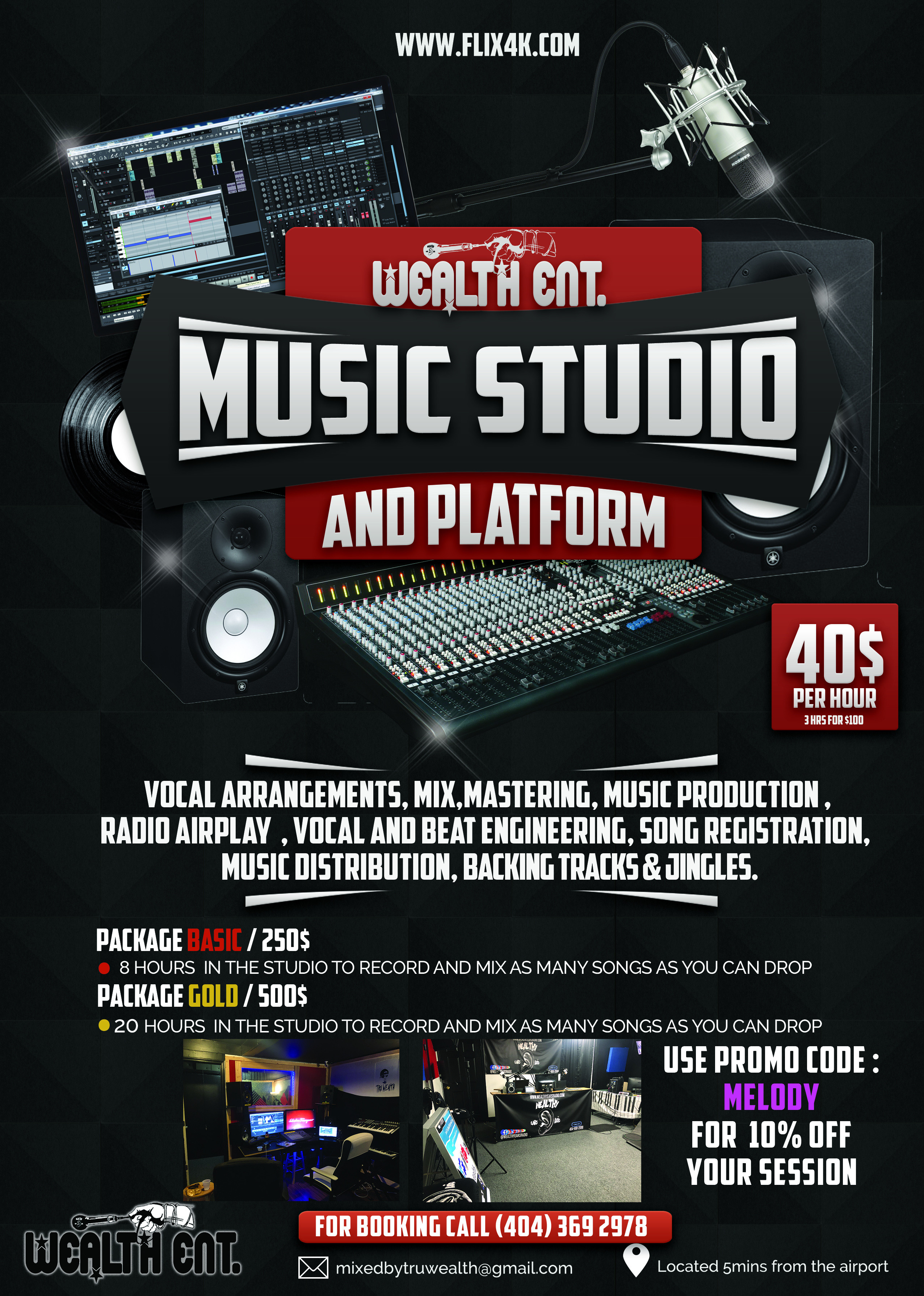 Basic Recording Studio 1 month block