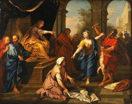 Суд Соломона. (1710). Луи Булонь младший