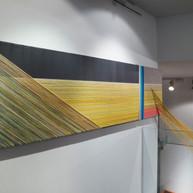 Cloth and thread on canvas. 2018