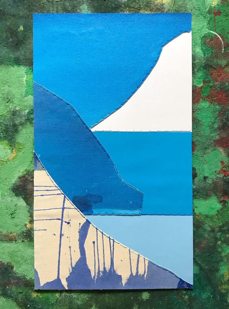 Sewn collage