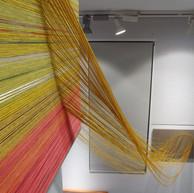 Cloth and thread on canvas. 2019
