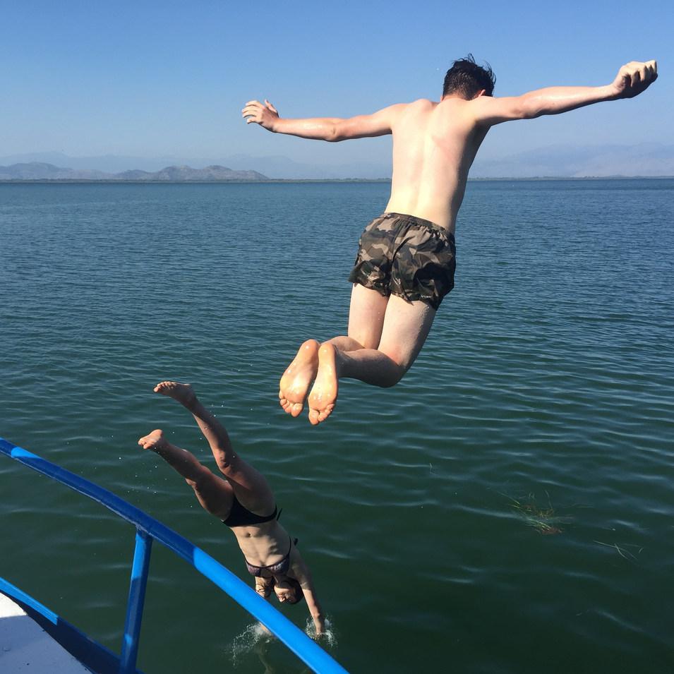 Swimming from board.JPG