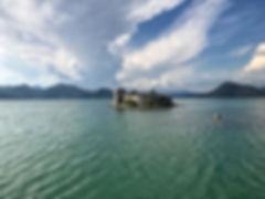 Grmozur island at Skadar lake