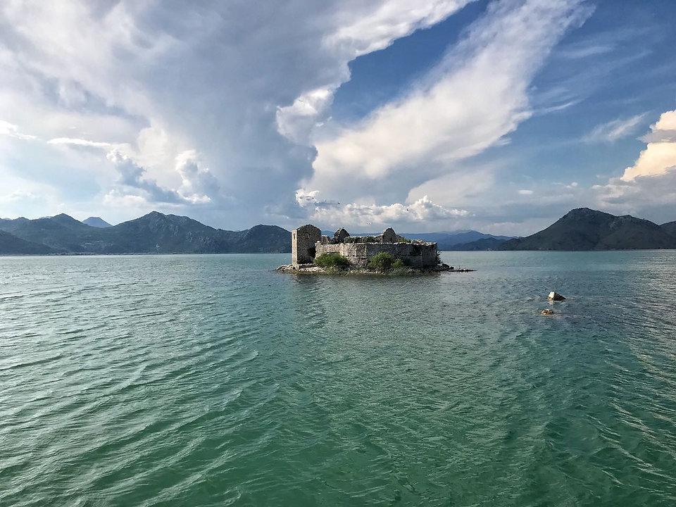 Grmozur island at Skadar lake