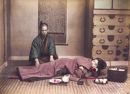 Séance de shiatsu