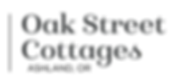 Oak Street Cottages logotype