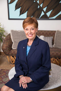 Marsha Petrie Sue Blue Suit