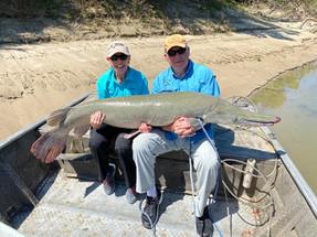 Marsha & Al fishing