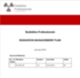 Radiation Management Plans