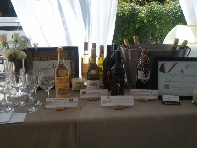 Outdoor Wine Tasting at Event Luxe