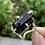Thumbnail: Silver Metal Black Tourmaline Adjustable Cuff Ring