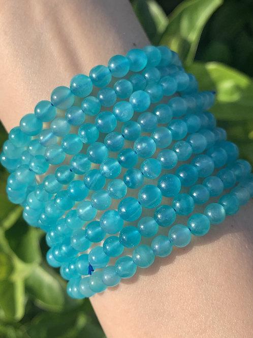 """7.5"""" Ice Amazonite Stretch Bracelet 5.5mm"""