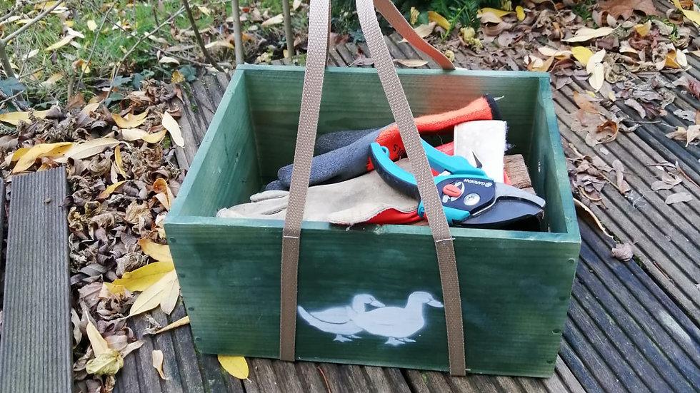 Boîte de jardinage motif canard