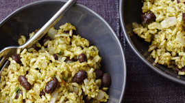 Recipe: Green Chile Rice with Black Beans