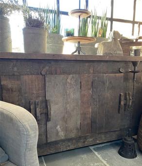 Dressoir oud hout 4-deurs