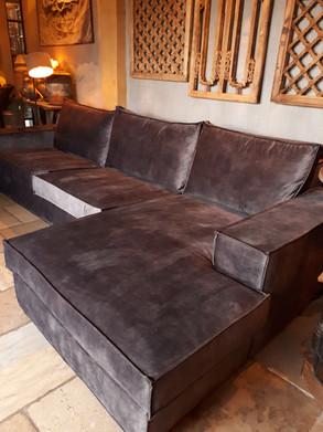 Loungebank 'Berlin' dark grey