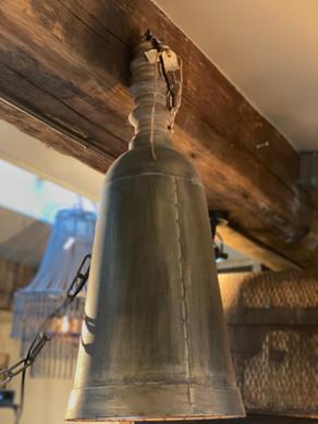 Metalen hanglampje met ketting