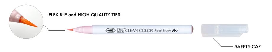 ZIG Clean Color Realbrush pen feature