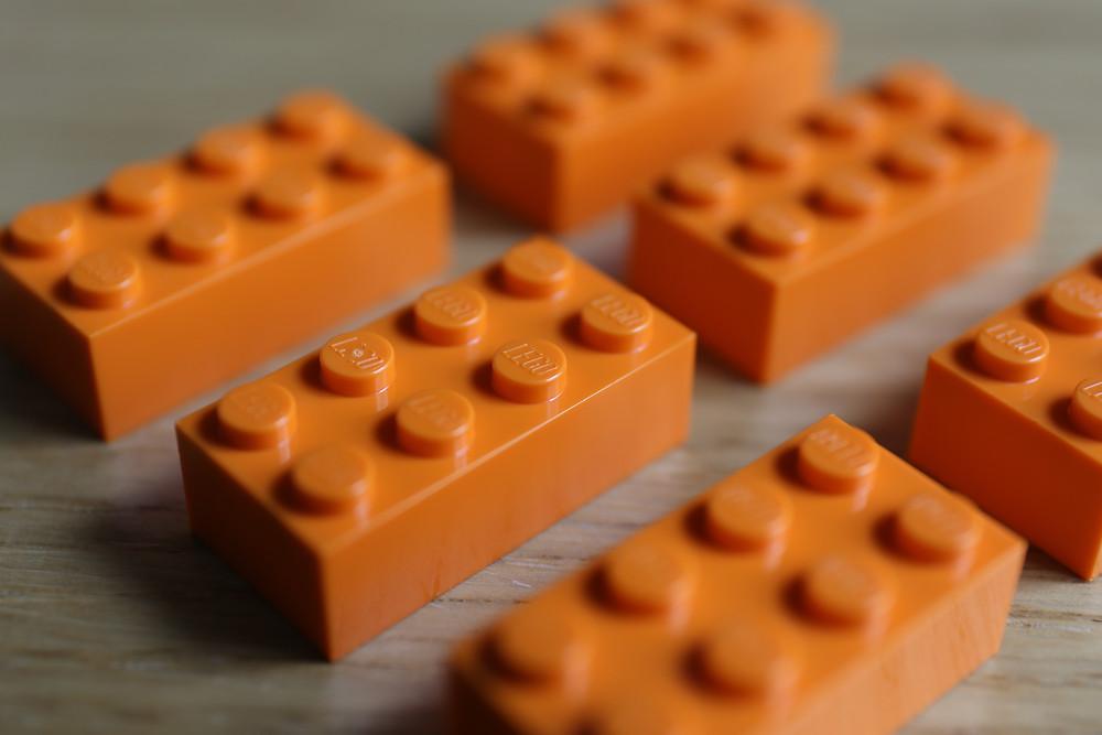 The classic 8-stud LEGO brick